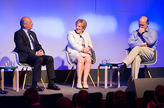 Ron Dennis CBE, Chairman of McLaren Technology Group, Dame Fiona Kendrick DBE, Chairman and CEO of Nestlé UK and Ireland, and Rupert Soames OBE, Group Chief Executive of Serco
